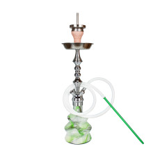 Amy Crazy Shape Shisha grün-weiss chrome