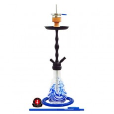 Amy Glorious Shisha blue-03 pulverbeschichtet schwarz